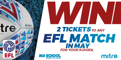 Win 2 tickets to any EFL Match taking place in May