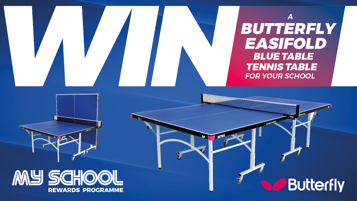 Win a Butterfly Easifold Blue Table Tennis Table
