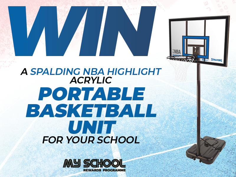 Win a Spalding NBA Highlight Acrylic Basketball Unit