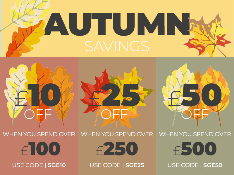 Save with our Autumn Savings Voucher Codes