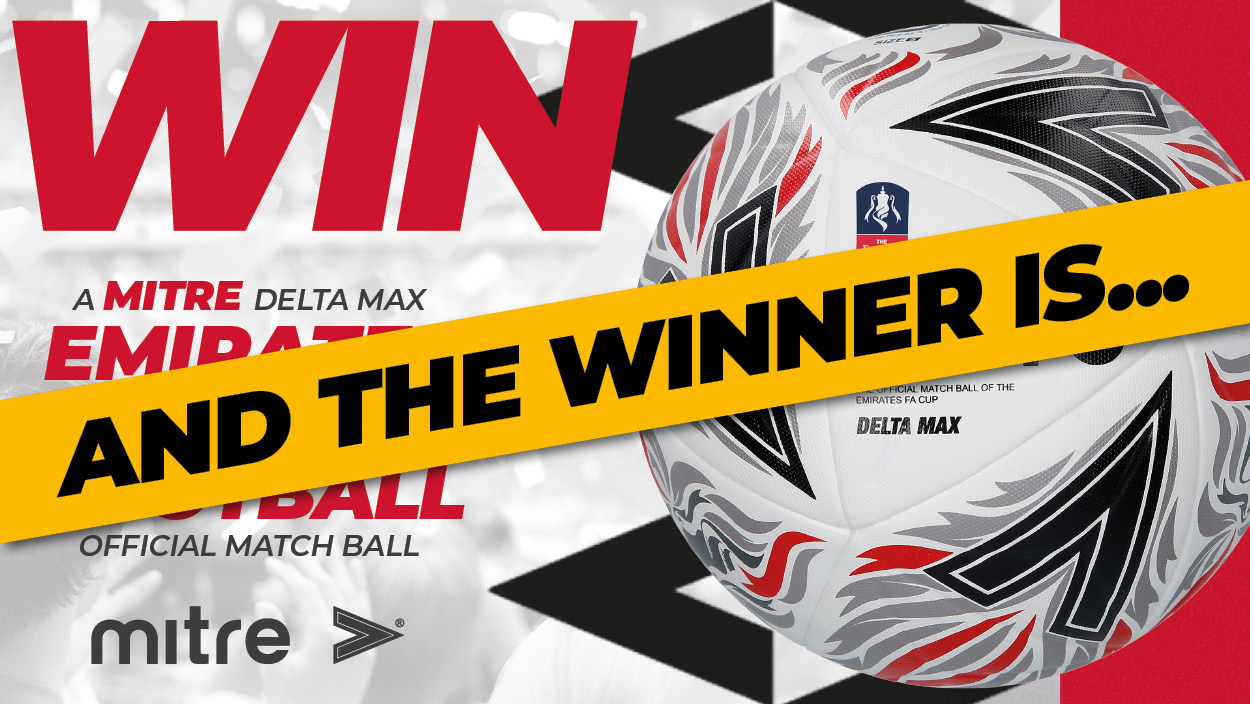 Win a Mitre Delta Max Emirates F.A. Cup Football Winners