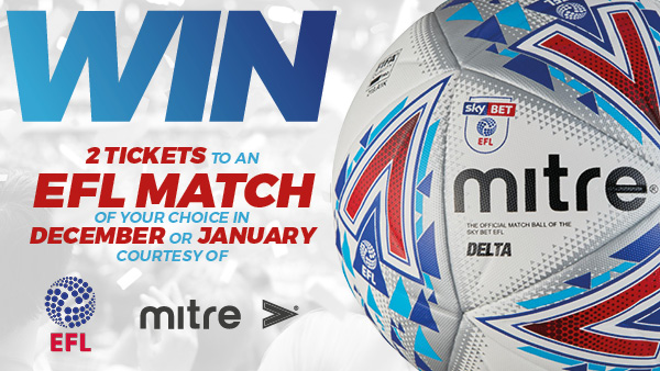 Win two tickets to an EFL game