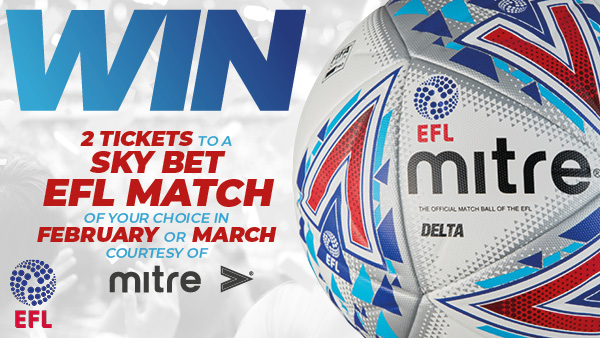 Win two tickets to a Sky Bet EFL game