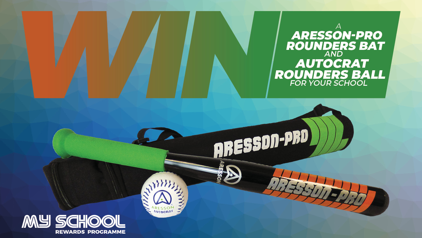 Win an Aresson-Pro Rounders Bat and Autocrat Rounders Ball.