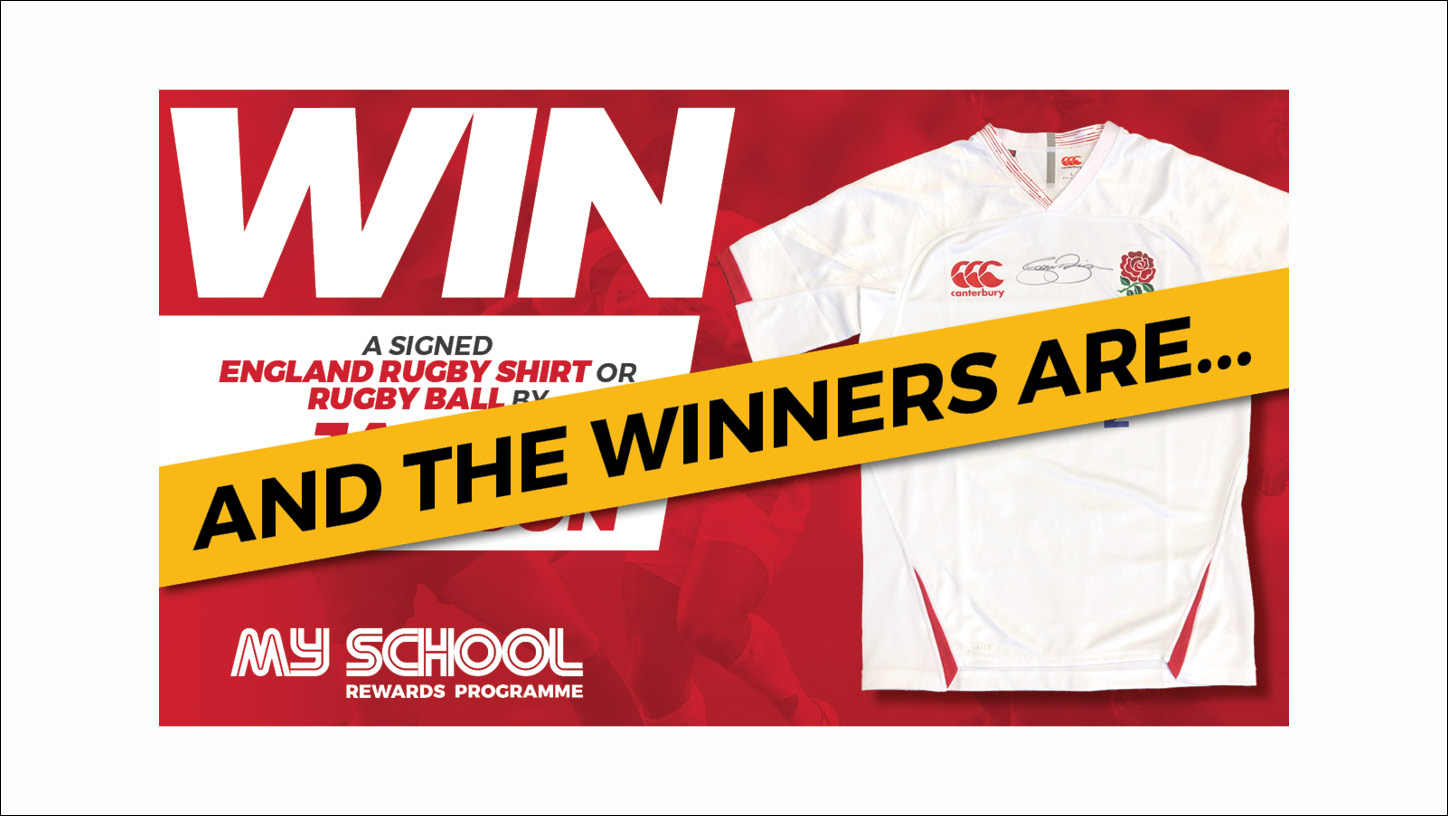Winners of the signed England Rugby Shirt announced