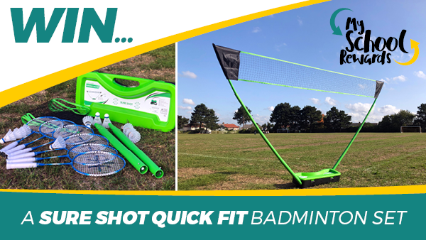 Win a Sure Shot Quick Fit Badminton Set